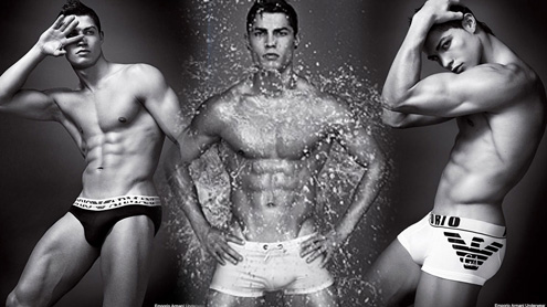 cristiano ronaldo armani underwear. and then instantly looked